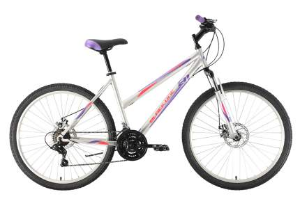 """Велосипед Black One Alta 26 D 2021 16"""" белый/салатовый/серый"""