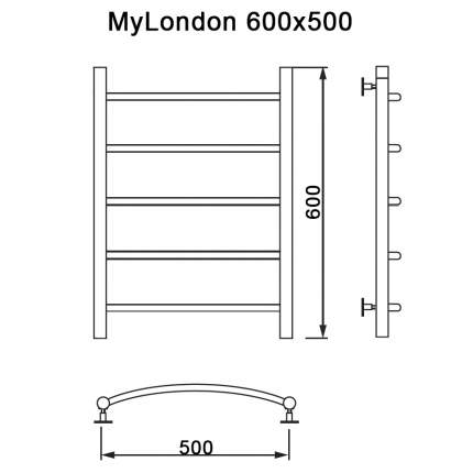 Полотенцесушитель MyFrea My London 60/50