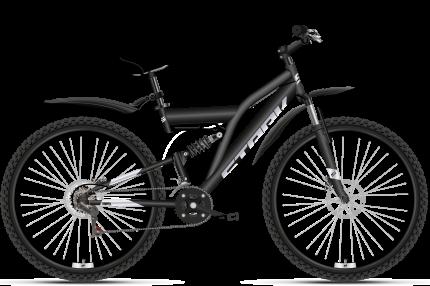 """Велосипед Stark Jumper 27.1 FS D 2021 18"""" черный/серебристый"""