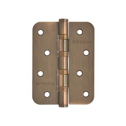 Петля дверная универсальная НОРА-М 4''-4ВВ-R10 (100*75*2,5) - Старая медь