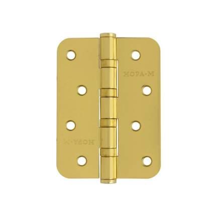 Петля дверная универсальная НОРА-М 4''-4ВВ-R10 (100*75*2,5) - Матовое золото