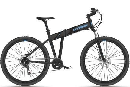 """Велосипед Stark Cobra 29.2 HD 2021 20"""" черный/голубой"""