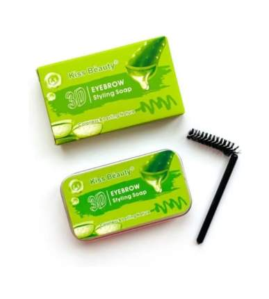 Гель мыло воск для укладки бровей Kiss Beauty 3D Eyebrow Styling with Aloe 10g