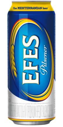 Пиво Эфес Пилсенер светлое  5% ж/б 0,45л