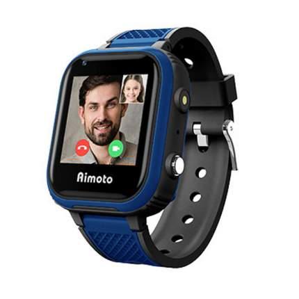 """Смарт-часы КНОПКА ЖИЗНИ Aimoto Pro Indigo 4G,  1.44"""",  черный/синий"""
