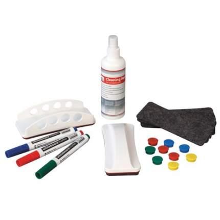 Набор д/магнитно-маркерной доски 4 маркера держатель чистящее средство салфетки 2х3 AS111