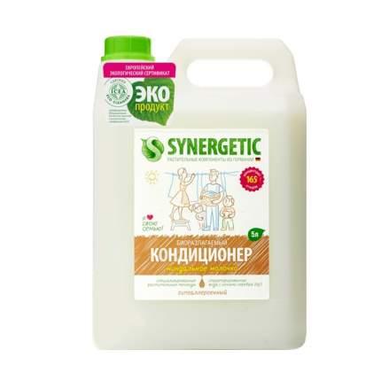 """Кондиционер для белья SYNERGETIC """"Миндальное молочко"""" гипоаллергенный, 5л, 165 стирок"""