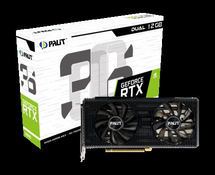 Видеокарта Palit Nvidia GeForce RTX 3060 Dual (NE63060019K9-190AD)