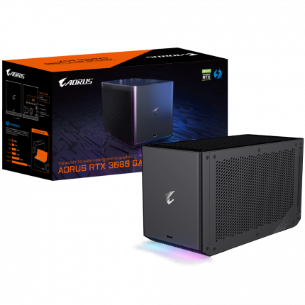 Видеокарта GIGABYTE AORUS Nvidia GeForce RTX 3080 GAMING BOX (GV-N3080IXEB-10GD)