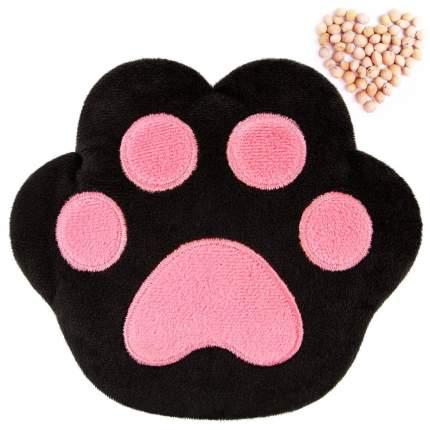 Комфортер Мякиши 3 в 1, с вишневыми косточками, Лапа, черно-розовая