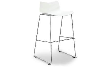Барный стул iModern Starling, хром/белый