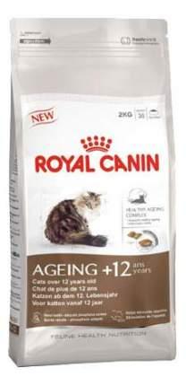 Сухой корм для кошек ROYAL CANIN Senior Ageing 12+, для пожилых, домашняя птица, 0,4кг