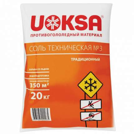 Противогололедный реагент Uoksa Соль техническая №3 607416 20 кг
