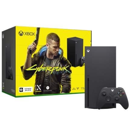 Игровая приставка Microsoft Xbox Series X 1 TB+Cyberpunk 2077
