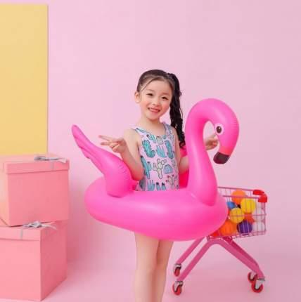 Детский надувной круг с трусами для плавания Baziator Фламинго Pink Flamngo