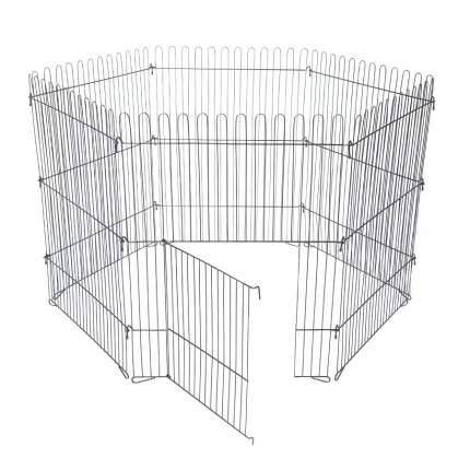 Вольер для собак, щенков ROKLET 80, складной, с дверью, черный, 6 секций по 60х80 см