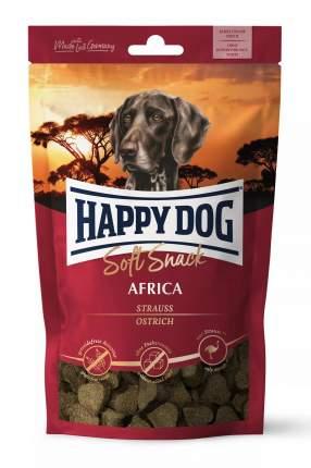 Лакомство для собак Happy Dog Africa, беззерновые, сердечки, страус, 100г