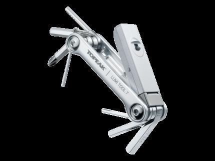 Велосипедный мультитул Topeak Lumi Tool 7 в 1 серебристый