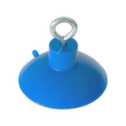 Присоска силиконовая DeLight с металлическим кольцом, голубая