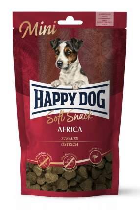 Лакомство для собак Happy Dog Africa, для маленьких пород, сердечки, страус, 100г, 10 шт