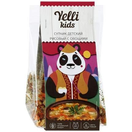 """Детский супчик Yelli kids """"Рисовый с овощами"""", 100 гр"""