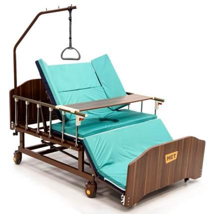 Механическая медицинская кровать с переворотом и туалетом ширина 120 см MET REMEKS XL