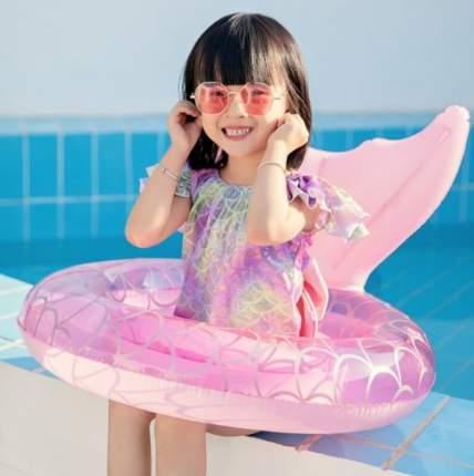 Детский надувной круг Baziator для плавания Хвост Русалочки 70 см от 3-6 лет, розовый