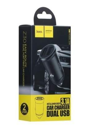 Автомобильное зарядное устройство Hoco Z30 Easy route dual port mini car charger (Черный)