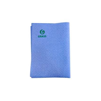 Салфетка Замшевая Перфорированная, синяя, 40*55 См, 1 Шт GraSS IT-0321