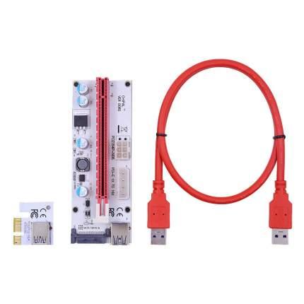 Переходник GSMIN PCI-e x16-PCI-e x1, M-M Red (BT895383)