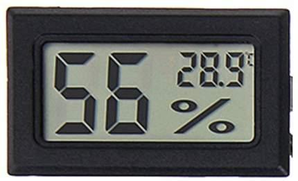 Встраиваемый термометр с измерением влажности ТЕХМЕТР Т-1804 (Черный)