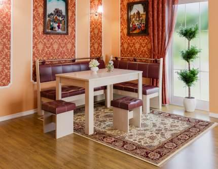 Кухонный уголок Остин Дуб Белфорт, Бордо, экокожа
