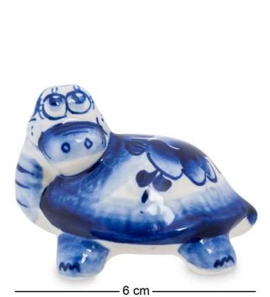 Фигурка декоративная Art East, Черепаха, 6 см, гжель