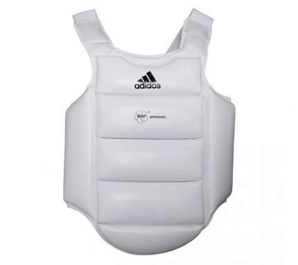 Adidas Защита корпуса детская Body Protector wkf белая c черным логотипом