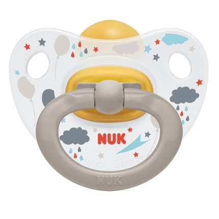 Пустышка NUK ортодонтическая HAPPY KIDS латекс размер 3 - Облака