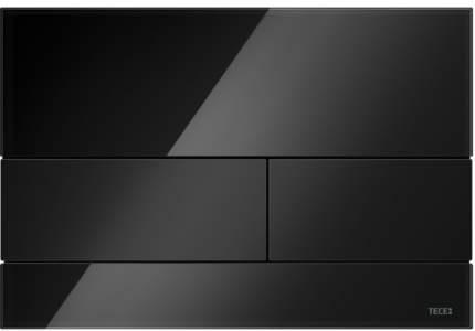 Панель смыва TECESquare, стекло черное, клавиши черные