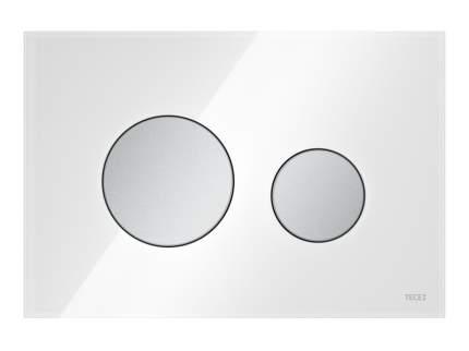 Панель смыва TECEloop стекло белое, клавиши матовый хром