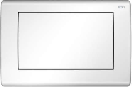 Панель смыва для унитаза TECEplanus, нержавеющая сталь, 1 клавиша, белая глянцевая.