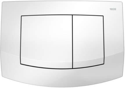 Пластиковая панель смыва для унитаза TECEambia, 2 клавиши, белая.