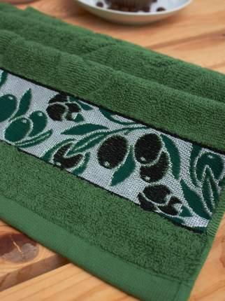 Махровое кухонное полотенце с вышивкой оливки PARISA HOME (30х60)