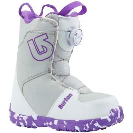 Ботинки для сноуборда Burton Grom Boa 2019, purple/white, 20