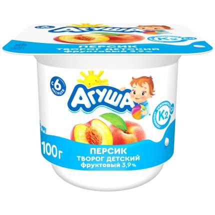 Творог Агуша фруктовый с персиком 3,9%, 100 г БЗМЖ