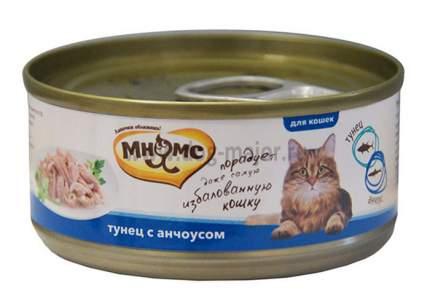 Влажный корм для кошек Мнямс в нежном желе, тунец, анчоусы, 12шт, 70г