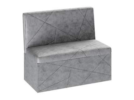 Кухонный диван Сидней Ателье серый/Велюр светло-серый
