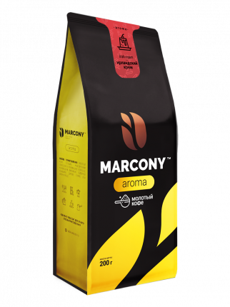 Кофе молотый MARCONY AROMA со вкусом ирландского крема 200г