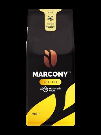 Кофе молотый MARCONY AROMA со вкусом французской ванили 200г
