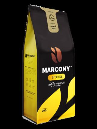 Кофе молотый MARCONY AROMA со вкусом лесного ореха 200г
