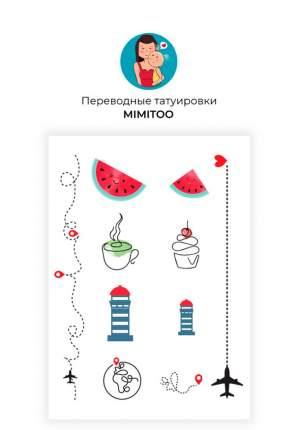 Переводные мини тату Mimitoo  - Путешествиявременные татувременные татуировки