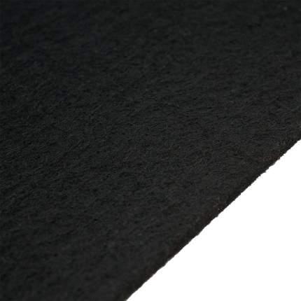 Фетр жесткий 5мм, 50*40см, Полиэстер 10+RC, черный