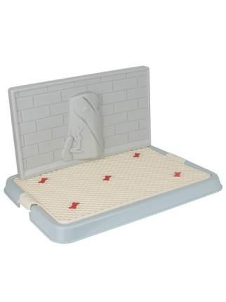 Туалет для собак STEFAN белый, серый, голубой, 50х38х3.5 см